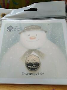 2018 Snowman 50p coin BU pack. Sealed/Mint