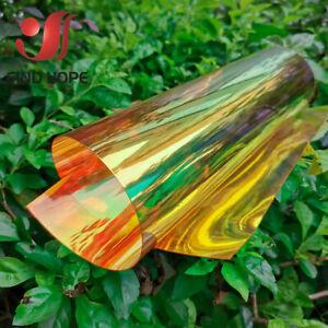 Clear Transparent PVC Iridescent Holographic Magic Multicolor Fabric Vinyl Film