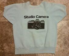 "Rare 70's Vintage Minolta XD11 Studio Camera Short Sleeved Sweatshirt- 19"" x 22"""