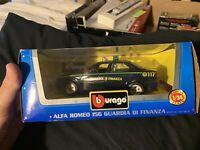 BURAGO RARE ALFA ROMEO 156 GUARDIA POLICE CAR 1/24 MODEL 0187 NEW & BOXED
