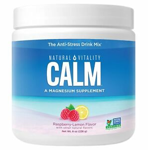 Natural Calm - 8 oz (Raspberry Lemon) FRESH, FREE SHIPPING, MADE IN USA