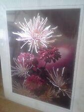 Vintage Art English Metal Etchings-Lyricard Floral Red/White Multi-Color 8 x 10
