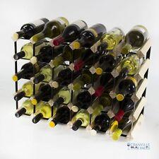 Cranville wine rack storage 30 bottle pine wood and black metal assembled
