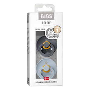 BIBS Schnuller Colour 2er Pack, (Größe 1 (0-6 Monate))
