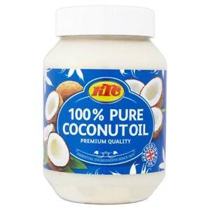 Pure Coconut Oil  For Hair & Skin Care Multipurpose KTC 100% Pure 500ml- 2 x Jar