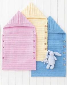 4536 Baby Chunky Sleeping Bag Hayfield Sirdar Knitting Pattern