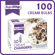 SUPAWHIP CREAM BULBS - 10 PACK X 10 (100 CHARGERS) - PURE NITROUS OXIDE N2O