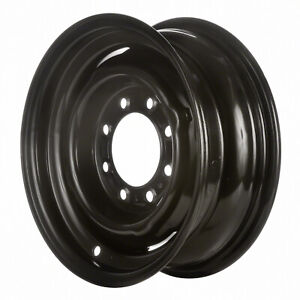 02059 Reconditioned Factory OEM Steel Wheel 16x6.5; Black Full Painted