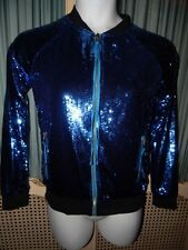 Juicy Couture Blue Sequin Track Jacket