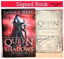 Sarah J Maas SIGNED / AUTOGRAPHED BOOK Queen of Shadows (Kingdom of Ash) hx