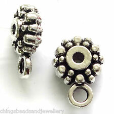 40 Tibetan Silver 8x4mm Flower Spacer Beads Findings