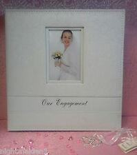 Our Engagement  Self Adhesive Large Photo Album 32.5cm x 33.5cm - IVORY ROSE