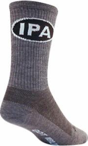 SockGuy IPA Wool Socks | 6 inch | Gray | S/M