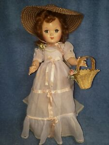 VINTAGE EUGENIA PERSONALITY PLA-MATE DOLL ORIG CLOTHES 16IN HARD PLASTIC PRETTY!