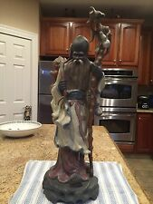 Lladro 2065 Chinese Farmer with Staff - Mint Condition