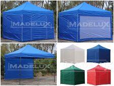 Gazebo pieghevole 3x3 PVC fiera giardino portatile mercatini fiere stand chiosco
