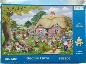 Brand New House of Puzzles BIG500 Large Piece Jigsaw Puzzle - GNOME FARM