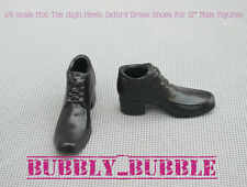 """1/6 Shoes Moc Toe High Heels Dress Shoes For 12"""" Male Figures SHIP FROM USA"""