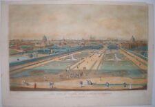 1822 Vienna Austria vista prospettica O Vue d'optique grande stampa colorata a mano