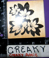 FLOWERS TROPICAL BLACK WHITE RUBBER STAMP HERO ARTS F5132