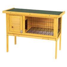 Rabbit Hutch Cage Chicken Coop House Wooden Pet Cage 1 Door Animal Backyard