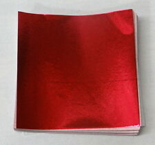 Red  Candy Foil Wrappers Confectionery Foil 125 count