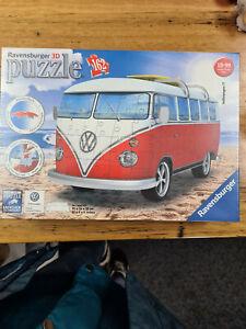 VW Kombi bus 3D Jigsaw Puzzle 162pc model ravensburger game beach