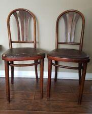 Vintage Polish Slatback Bentwood Antique Ice Cream Parlor Cafe Bistro Chairs