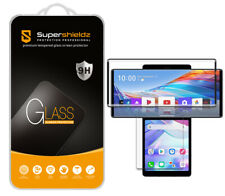 Tempered Glass Screen Protector (2x Glass Main+ 2x PET Dual) for LG Wing (Black)
