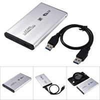 "3TB USB 3.0 2.5"" SATA Hard Drive Case External Enclosure HDD Durable Aluminum"