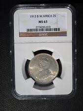 1913 British West Africa 2 Shillings, NGC MS 63, Nigeria, Ghana