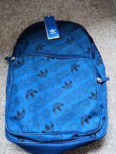 Adidas Azul Bolso Mochila Nuevo