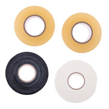 """Set of 4 Rolls 1"""" X 22 yds Clear Hockey Sock Tape and 1"""" X 25 yds Stick Grip"""