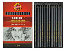 SET 12 KOH-I-NOOR PROGRESSO 8911 HB 2B 4B 6B 8B 7.6MM WOODLESS GRAPHITE PENCILS