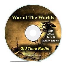 The War of the Worlds, HG Wells, with 960 Old Time Radio SCI FI Episodes DVD G54