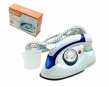 TRAVEL IRON ULTRA COMPACT FOLDING STEAM & DRY IRONING DUAL VOLTAGE WORLD NEW
