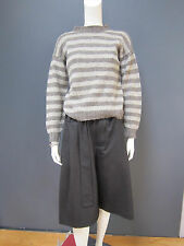 DANIELA GREGIS 100 % wool  sweater NEW large stripes matching gloves available