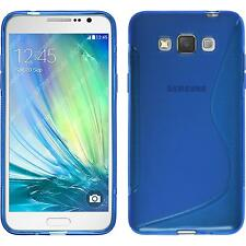 Silicone Case for Samsung Galaxy Grand 3 S-Style blue + protective foils