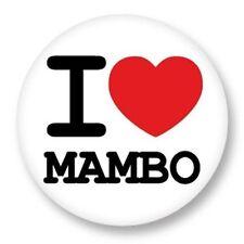 Magnet Aimant Frigo Ø38mm ♥ I Love You Danse Danse Dance Musique Music Mambo