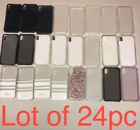 Wholesale Lot Of 24pc IPhone XS Max Case's  - Mix authentic Brand Names