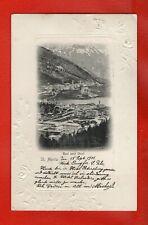 SWITZERLAND -  ST.MORITZ   15th SEPTEMBER  1901 OLD POSTCARD (d)