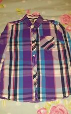 boys Next purple striped shirt