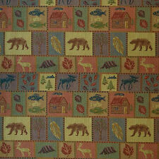 MOOSE UPHOLSTERY FABRIC MOUNTAIN LODGE BIG SKY RUSTIC TAPESTRY