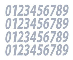 """0-9 Numbers Silver Sticker Vinyl Decals CHOOSE SIZE!! 1/2"""" - 12"""" Set Of 40 V546)"""