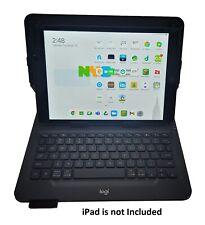 """Logitech универсальный чехол-книжка Bluetooth беспроводная клавиатура iPad 7 & 8 10.2"""" черный"""