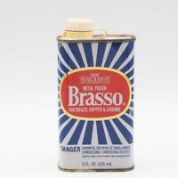 Vintage Brasso Metal Polish Cleaner Tin Advertising Packaging Design