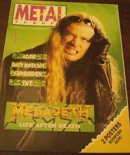METAL SHOCK 83/84 Megadeth AC/DC Wolfsbane Cerebral Fix + posters Scorpions ACDC