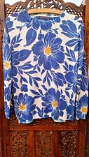 Marks & Spencer Collection Jumper Size S Floral Blue White Yellow Good Condition