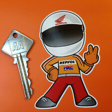 HONDA REPSOL FULL FACE Helmet Rider 2 fingered salute motorcycle STICKER CBR RR