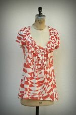 ANTHROPOLOGIE Size S Baby Doll Tunic Ruffle Detail
